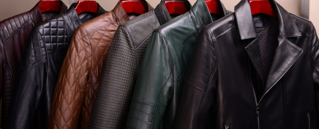 New collection of different color spring leather jackets